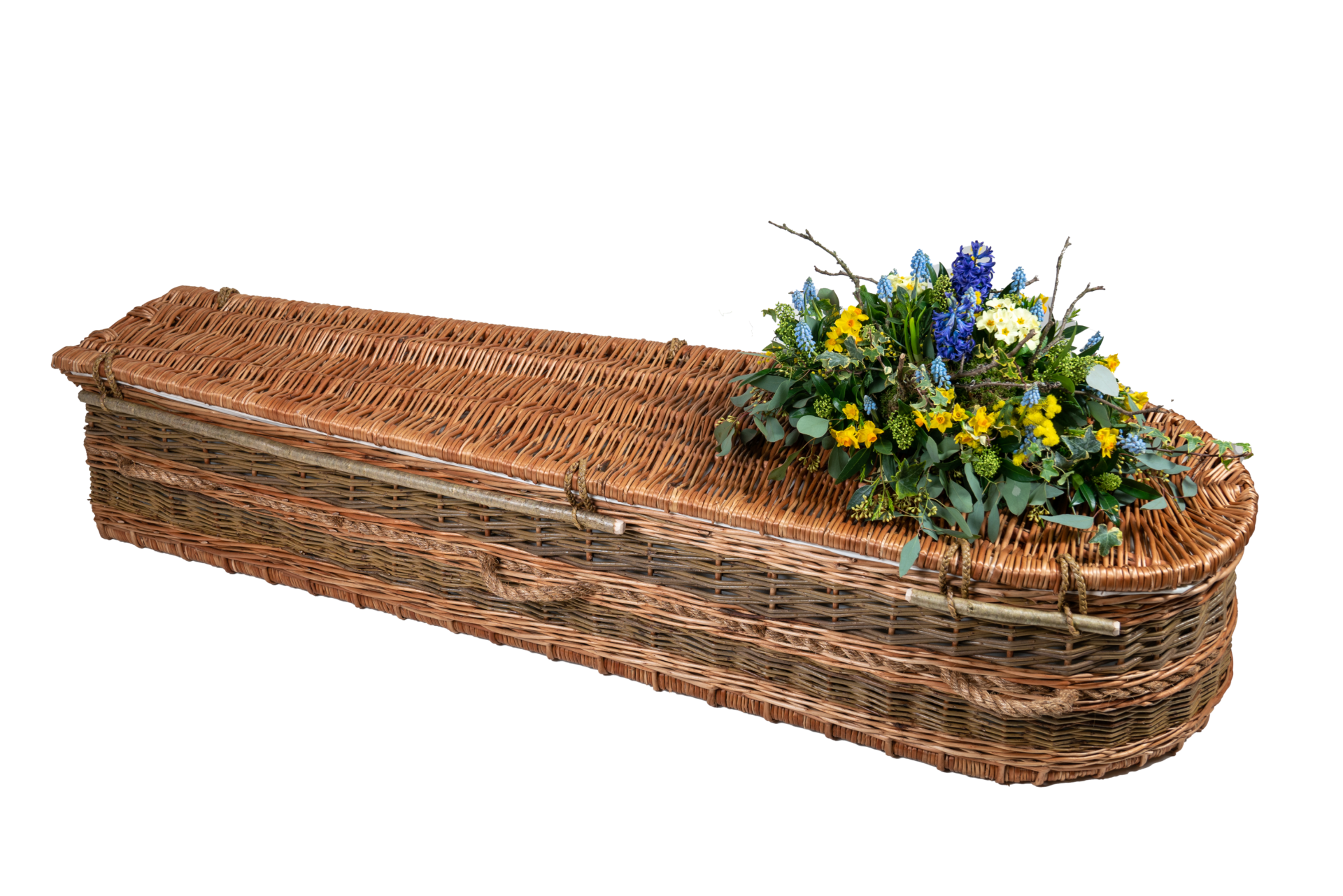 Wicker Basket Casket - Buff Willow Coffin from Natural English Willow | Sussex Willow Coffins