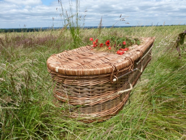 Funeral Coffin from Natural English Willow | Sussex Willow Coffins